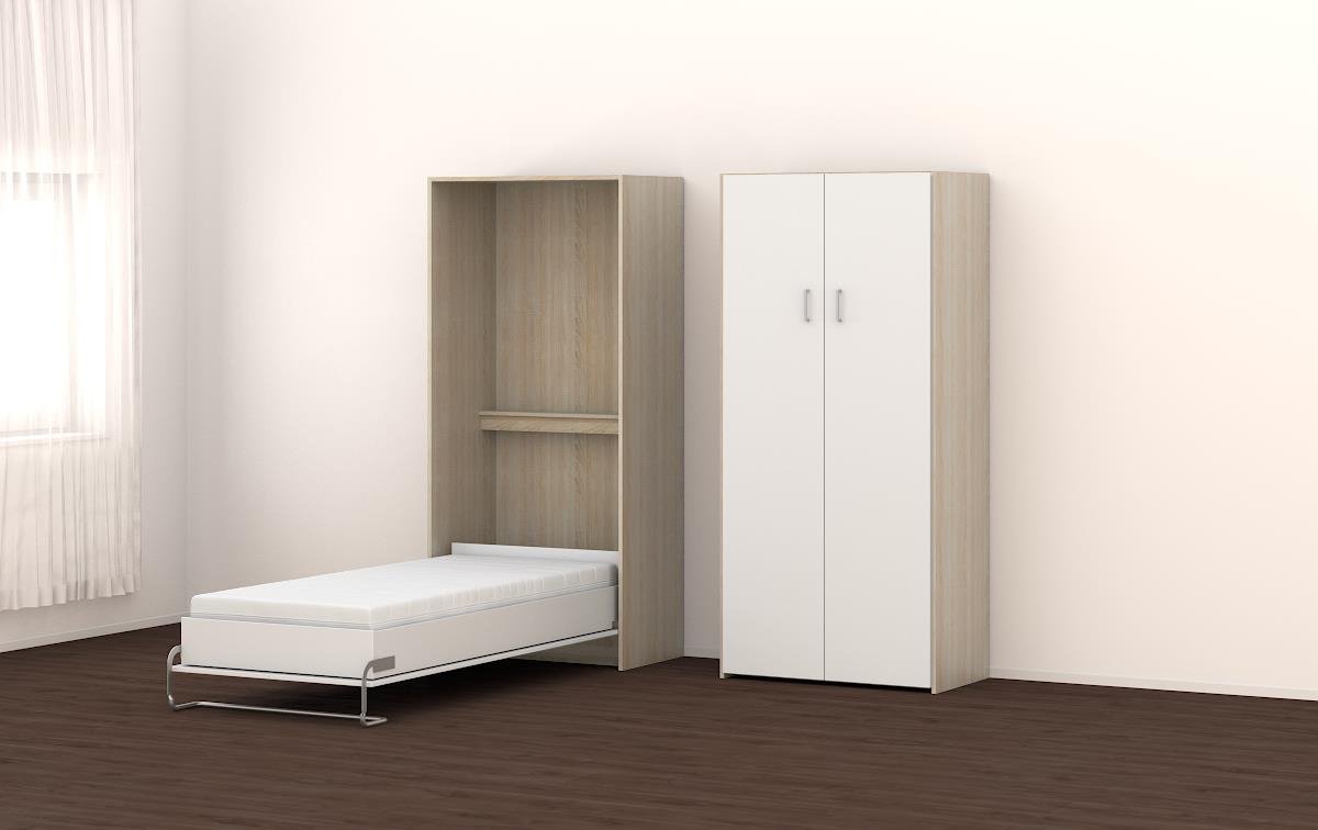 schrankbett rio 90x200cm vertikal von sessel. Black Bedroom Furniture Sets. Home Design Ideas