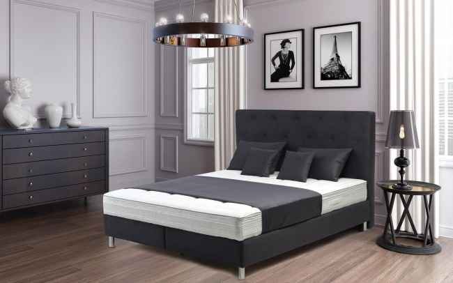boxspringbett jackson 90x200cm von sessel. Black Bedroom Furniture Sets. Home Design Ideas