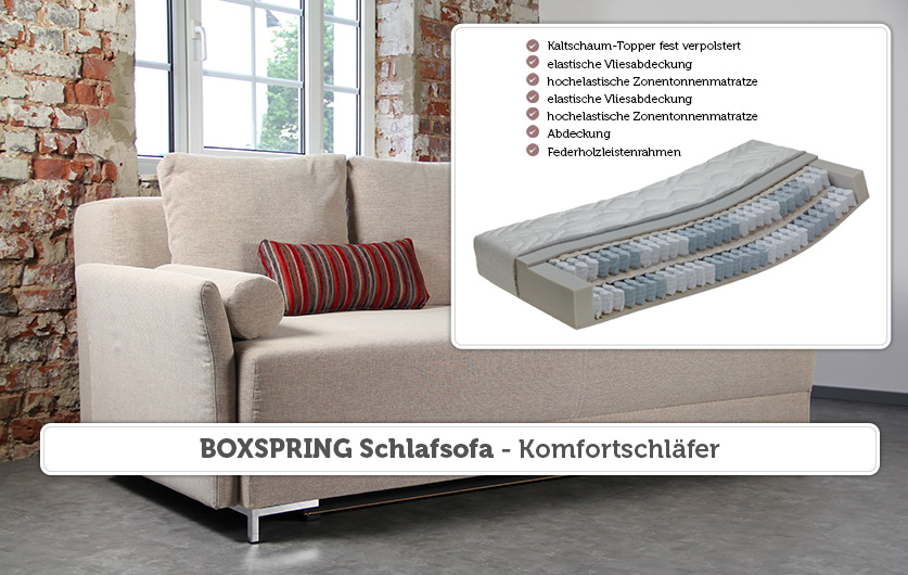 boxspring schlafsofa sessel. Black Bedroom Furniture Sets. Home Design Ideas