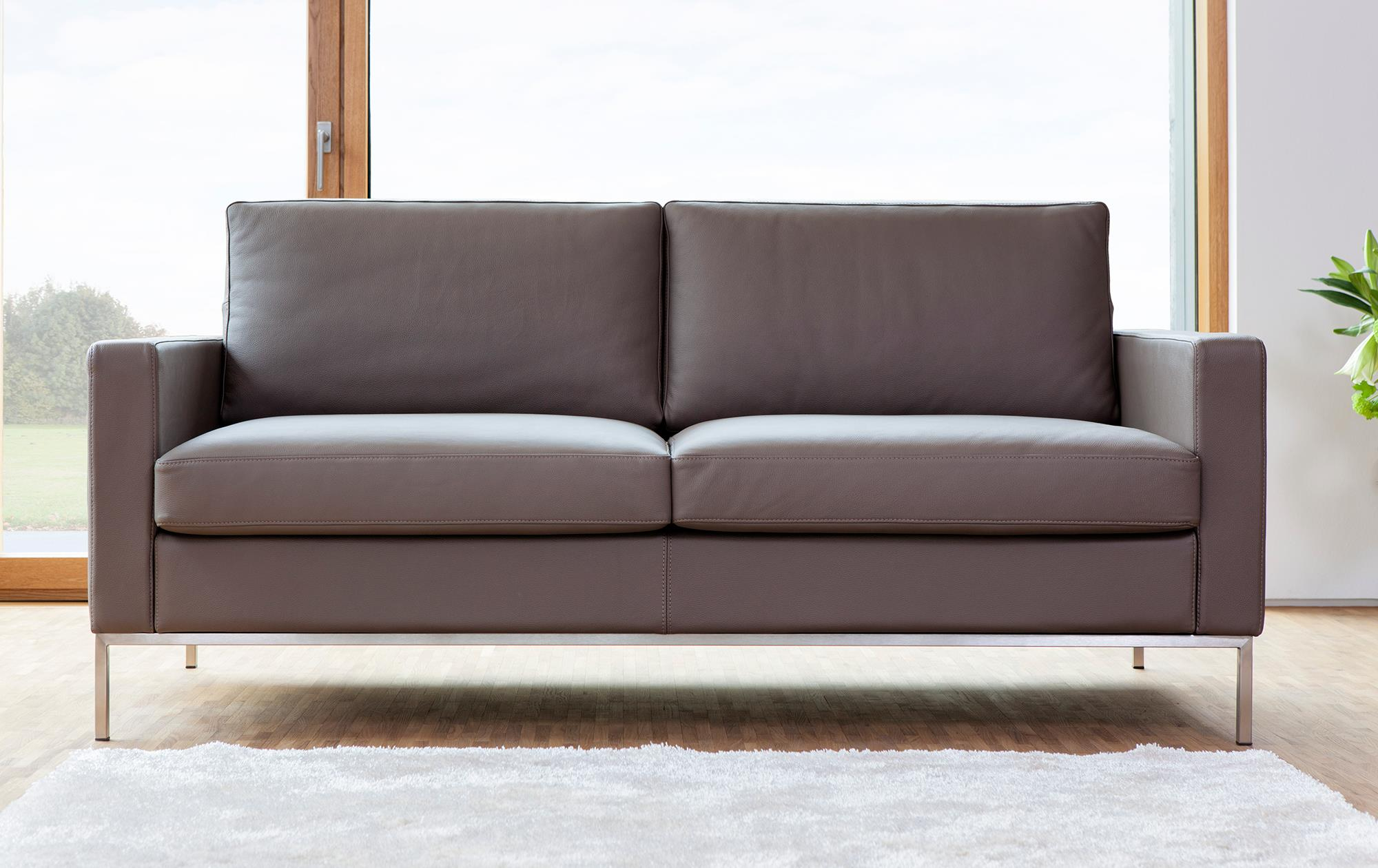 Sofa Augsburg in Leder | sessel-manufaktur.de