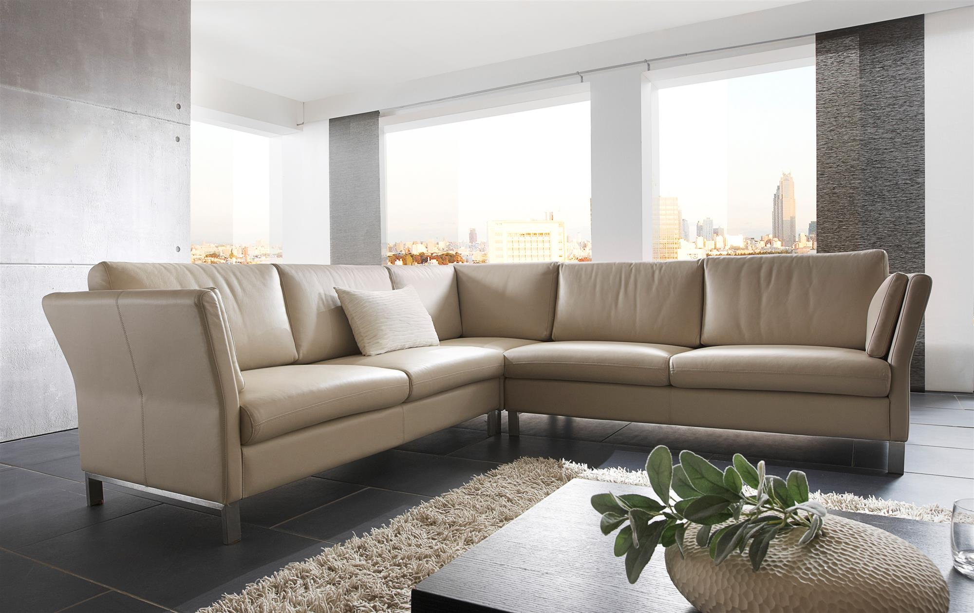 Sofa Würzburg in Leder | sessel-manufaktur.de